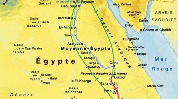 CARTE - EGYPTE - PAYSAGES ET CIVILISATIONS