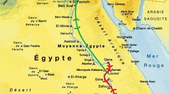 CARTE - EGYPTE - TRESORS D'EGYTPE A BORD DU CROWN JEWEL